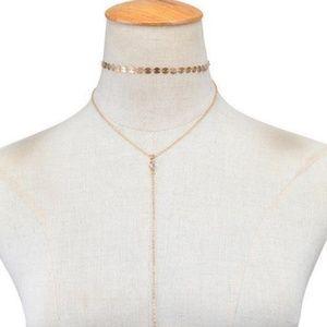 Jewelry - Sequin Tassle Drop Necklace